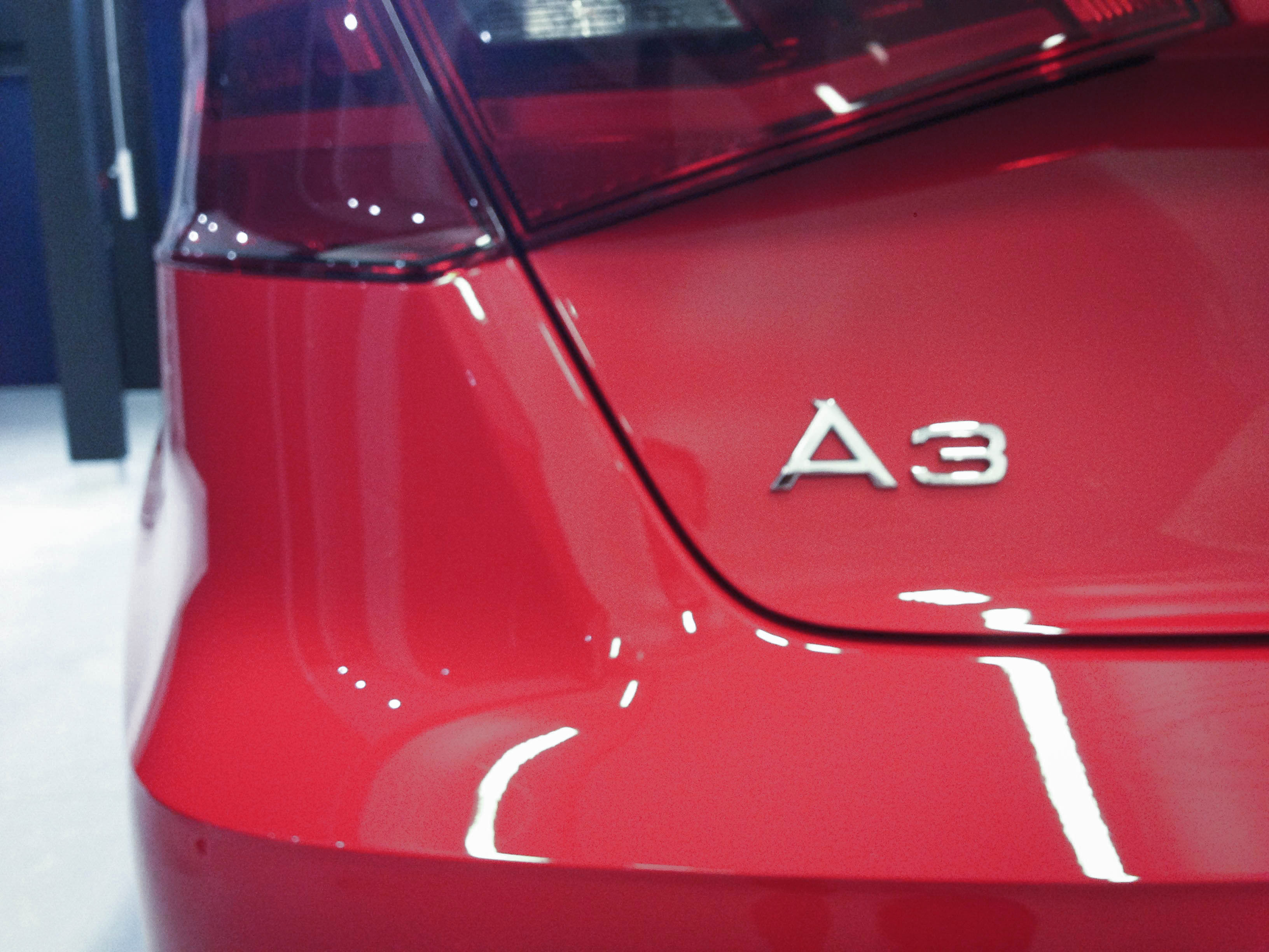 Audi A3 (Misano Red) – Rear detail