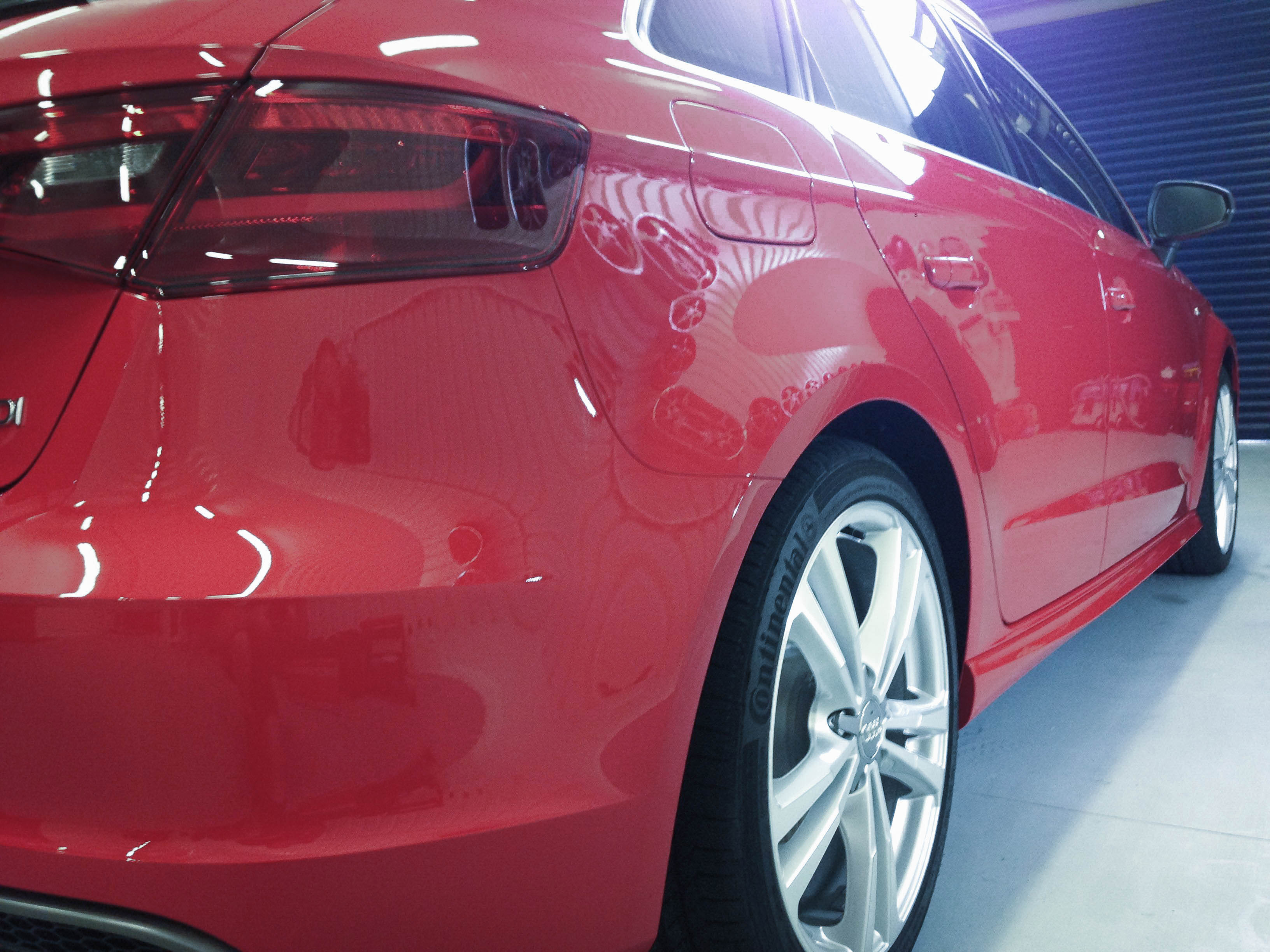 Audi A3 (Misano Red) – Rear