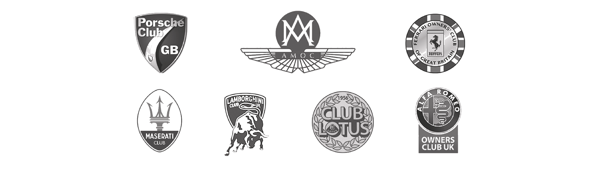 Porsche club, Ferrari owner's club, Club lotus, Maserati Club and more