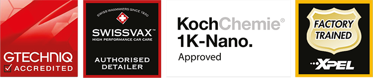 GTECHNIQ Accredited, Swissvax Authorised Detailer, KochChemi 1K-Nano Approved