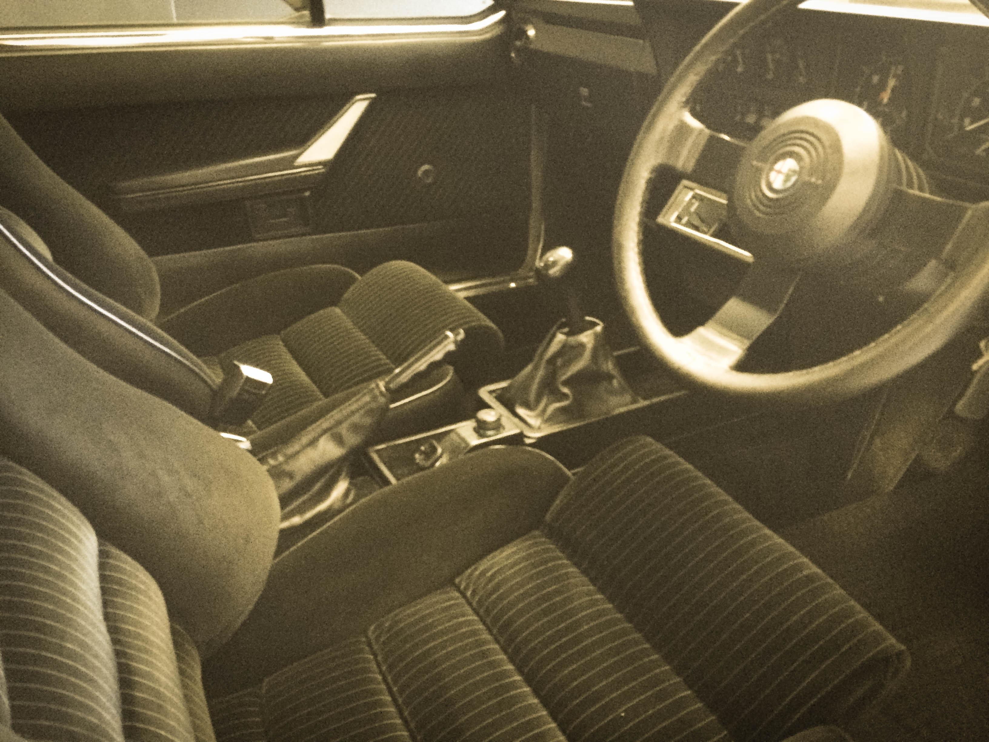 Alfa Romeo GTV6 – Interior